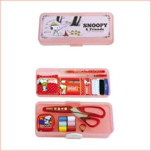 裁縫セット スヌーピーソーイングセット ストッパータイプ 2段トレイ ピンク ソーイングセット…