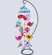 京ちりめん傘宝つるし飾り水色LH-134