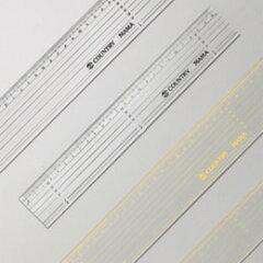 【カントリーママ】#7,8パッチワーク定規25cm黒黄ライン(パッチワーク用品)