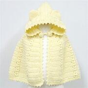 手芸キット編み図付ベビー耳付きポンチョ5w0910ダルマ手芸の山久05P23Sep15