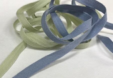 【MOKUBA】木馬 コットンリボン 5mm巾 11色/全28色 No.M1502-5a 茶系・青系・みどり系