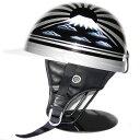 コルク ヘルメット ドリーム カスタムコルク半 ハーフヘルメット ツバ付き [富士日章/ブラックメタル]FREEサイズ(59-60cm未満) メンズ レディース SG規格 125cc以下車両対応 バイク用