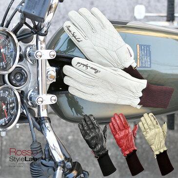 Rosso StyleLab(ロッソスタイルラボ) RSG-294 レディース 防寒 防水 ロングリブ レザーグローブ スマホ対応 3サイズ/3カラー 女性用 レディース ウィンターグローブ 防寒手袋 革手袋 秋冬 バイク 自転車