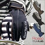 Rosso/StyleLab/ロッソスタイルラボ/RSG-250/レディース/防水/ボーダー/レイングローブ/3カラー/バイク/自転車/通勤/通学/女性/レディース/かわいい/オシャレ/防水/雨具/雨対策/雨の日/レイングローブ/手袋/送料無料
