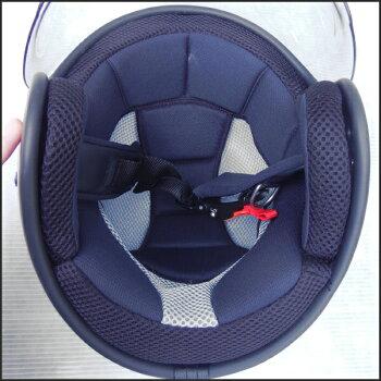 【大きなサイズ】【送料無料】【開閉式シールド付き】LEAD(リード工業)Ambrose(アンブローズ)AB-505ジェットヘルメット艶無しマットBLACKLL(61cm-62cm)バイク/ヘルメット/メンズ/レディース/ビッグサイズ