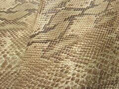 リアル感が魅力のヘビ柄レザー生地合皮 ヘビ革 リアルスネーク アイボリー [GM-75-25]
