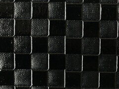 【レザーの切売】シンプルな市松模様の合皮生地合皮 エンボス シンプルメッシュ(小) 黒(エナ...