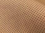 最上級 スエード調生地 人工皮革 日本製 【パンチング キャメル(茶色の裏張あり)】(大手メーカーアウトレット品)[ECS-PAN-CAMEL]