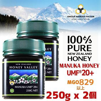【マヌカハニー】【アクティブマヌカハニーUMF20+250g】★2個セット天然蜂蜜はちみつ【HLS_DU】【RCP】