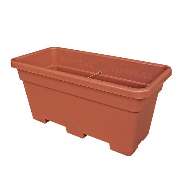 イタリア直輸入 プラスチック植木鉢 長方形 カセッタマキシ Casseta Maxi 80cm×38cm×H38cm ブラウン