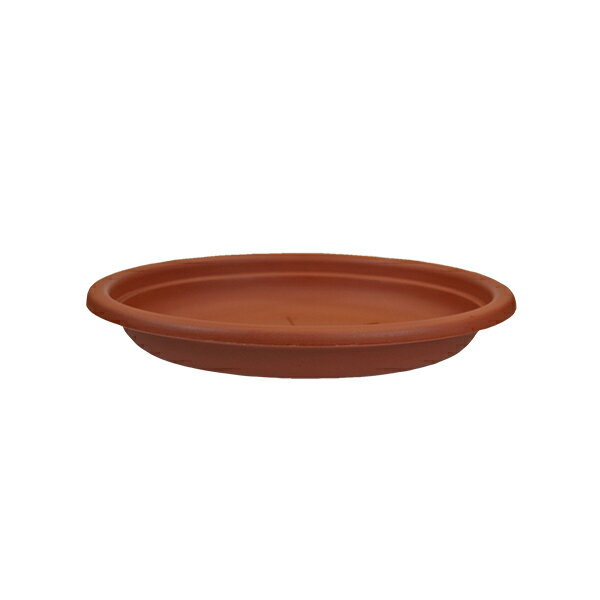 イタリア直輸入 プラスチック植木鉢 丸形 受け皿 径30cm ブラウン