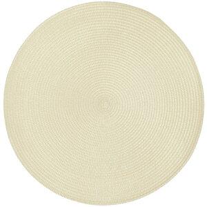 プレイスマット ラウンド ホワイト テーブル ランチョン