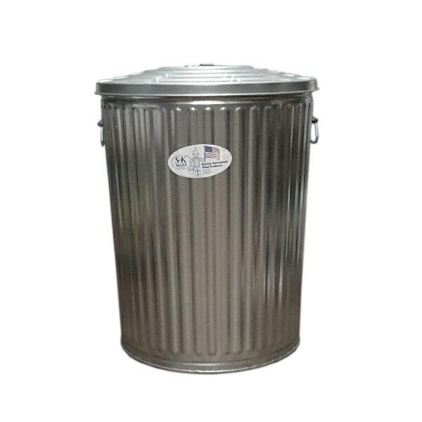 ゴミ箱 ブリキ缶 ふた付き 蓋付き / メッキゴミ箱 大 約121L ブリキ バケツ 6519814 送料別見積 大型・割れ物(190k)