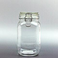 ソーダガラス フタ付き角瓶(選べる5サイズ)