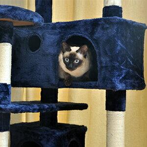 【point5倍】cat tower キャットタワー 省スペース 据え置き スリム 高さ約130cm 爪研ぎ おしゃれ 猫タワー おもちゃ タワー 猫 ねこ 爪みがき キャットハウス 隠れ家 組み立て
