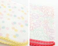 【 日本製 今治 花柄 ハンカチ 】カワイイ小花柄 ハナブック ハンカチタオル (綿100%) Hanabook Towel 選べる8種類 (メール便可3枚まで)