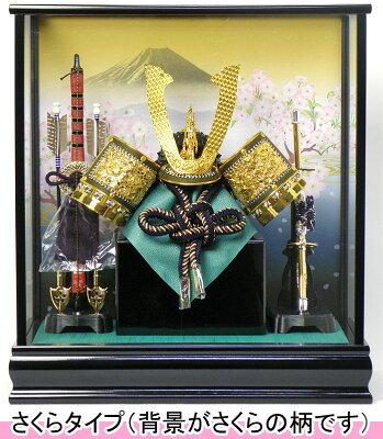 お名前(名入れ)木札同梱可!送料無料!五月人形(兜飾り)ケース飾り 美しい背景が選べる当店のオ...
