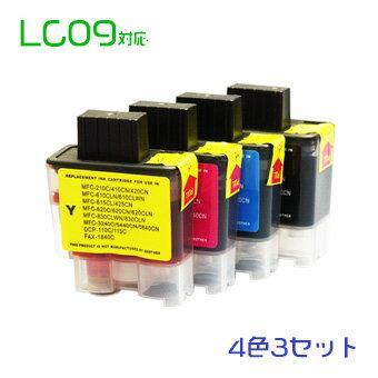 LC09 12個セット(4色×3セット)(LC09BK LC09C LC09M LC09Y)br互換インク 宅配便無料(沖縄・離島を除く)10P05Nov16