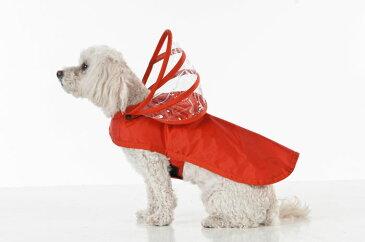 【PushPushi】アメリカのセレブ御用達のおしゃれなドッグレインコート新登場!PushPushiレインボーラインドッグレインコート ブライトレッド XXLサイズ【おでかけ お散歩 ドライブ 旅行 アウトドア 雨 ポンチョ 大型犬 超大型犬】※お取り寄せ