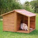 ※再入荷12月中旬から下旬予定です※【ドイツTRIXIE】屋外用犬小屋!ドイツTRIXIE ナチュラドッグケンネルサドルルーフ ブラウン Lサイズ(箱リニューアルにつき、M-Lと記載されていることもございます、サイズは変わりません)【大型犬】 - HANGON