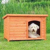 【ドイツTRIXIE】新発売!屋外用犬小屋!ドイツTRIXIE  ナチュラドッグケンネルフラットルーフ ブラウン L【犬小屋 ハウス 屋外 ドッグハウス】