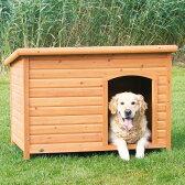6月下旬入荷予定です。【ドイツTRIXIE】新発売!屋外用犬小屋!ドイツTRIXIE ナチュラドッグケンネルフラットルーフ ブラウン XL【大型犬 犬小屋 ハウス 屋外 ドッグハウス】