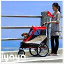 ※9月上旬予定です※【台湾イビヤヤ】耐荷重30kgまでのペットカート!ibiyaya イビヤヤ ハッピーバイシクルペットカート カラーはブルーです!(レインカバー付き)【キャリーバッグ ペットカート 折りたたみ 軽量 ショルダーバッグ おでかけ アウトドア】 3