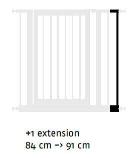 【SAVIC】単体です。ゲートがないとこれだけでは使えません。ベルギーサヴィッチ社製 ペット用ゲート ドッグバリアードア107+キャットドア付&バリアードア107専用エクステンションバー1本単体 グレージュ