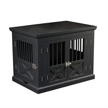 【zoovilla】犬小屋 ドッグハウス トリプルドアドッグクレートM ブラック【犬小屋 大型犬 超大型犬 多頭飼い】