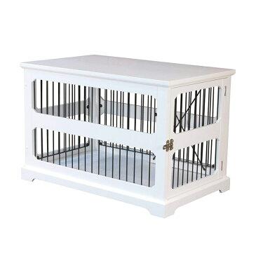 【zoovilla】犬小屋 ドッグケージ スライドAサイドペットクレート&エンドテーブル ブラック【犬小屋 大型犬 超大型犬 多頭飼い】