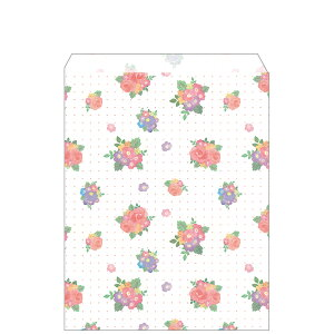 紙バッグ・ソフィアローズ(パーソナル用/20枚入)【花柄 バラ 平袋】