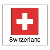 【代引手数料無料】【ゆうパケット対応】国旗シール(Switzerland)スイス
