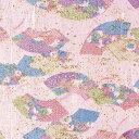 和紙千代紙 わらべ 末広花紋 平判 31-2262 | 和柄 和調 和風 用紙 和モダン 折り紙 千代紙 奉書紙 日本 伝統 伝統工芸 工作 こうさく 工作キット 工作材 学校 幼稚園 美術 手作り モチーフ 装飾 化粧箱 オリジナル 紙製 柄 ペーパー 片面 デザイン 桃 ピンク カワイイ 花