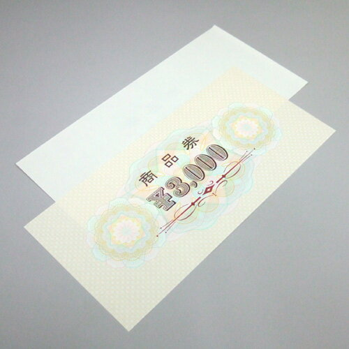 商品券 横書 3000円 裏無字 9-312 ...の紹介画像2