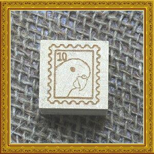 【送料無料】かわいいインコの切手風スタンプ!ハンドメイド・ラッピング・手芸のタグテープに...