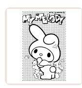【最大1000円OFFクーポン発行中】サンビー イラストスタンプ サンリオぬりえすたんぷ マイメロディ SFT-RLLM05