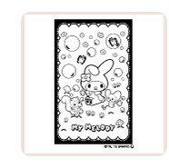 【最大1000円OFFクーポン発行中】サンビー イラストスタンプ サンリオぬりえすたんぷ マイメロディ SFT-RLLM08