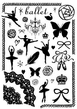 Umbrella Stamp(傘のスタンプ)《Ballet》スタンプ はんこ ハンコ 傘 ビニール傘 デコ デコレーション かわいい おしゃれ【ご奉仕品】[メール便]