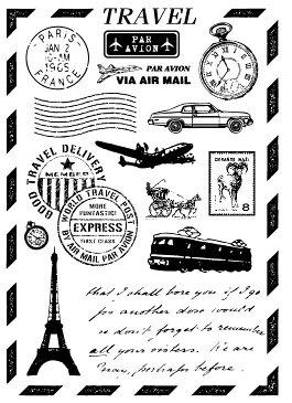 Umbrella Stamp(傘のスタンプ)《Travel》スタンプ はんこ ハンコ 傘 ビニール傘 デコ デコレーション かわいい おしゃれ 旅 旅行 【ご奉仕品】[メール便]
