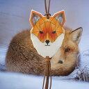 北欧の動物 リフレクター Origami Fox(キツネ)圧...