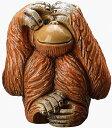 送料無料 見ざるオランウータン F203V陶器 置物 動物 オランウータン 猿 さる サル monkey インテリア ...