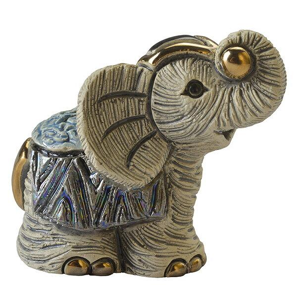 ミニゾウ4 MI19陶器 置物 動物 ゾウ 象 ぞう elephant アジア アフリカ インテリア オブジェ おしゃれ かわいい 雑貨 贈り物 プレゼント ウルグアイ製