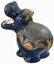 送料無料 カバ子供 F367陶器 置物 動物 カバ かば hippo アフリカ インテリア オブジェ おしゃれ かわいい 雑貨 贈り物 プレゼント ウルグアイ製