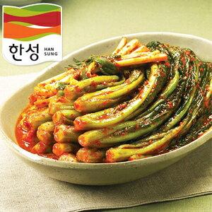 ソウル市場、韓国食品、韓国食材、韓国料理ハンソン からし菜キムチ 300g (冷蔵)