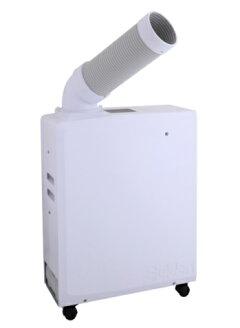 【送料無料】スイデンスポットエアコンポータブルタイプSS-16MZW-1(白/ホワイト)自動首振りなし冷風1口単相100V軽量小型排気方向上・横壁ピタ設置満水時自動ストップ機能クールスイファン持ち運びに便利車に積んで移動も可能スポット冷房suiden