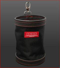 ニックス総グローブ皮仕上腰袋フチ総グローブ革テープ巻KB-201DDSP総グローブ革黒革天然素材