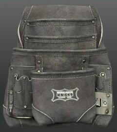 ニックス2×4工法用釘袋(黒)KCA-7503Bスウェード腰工具袋KNICS