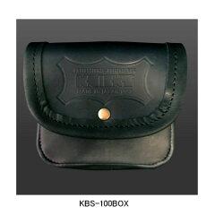 ニックス(KNICKS)BNS-100BOXヌメ革小物ポーチ(ブラック)