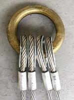【コンドーテック】JISロック止めワイヤー6×24裸2点吊セット両シンブル入セット品