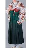 女子袴、卒業袴、卒業式、入学式、女袴、ぼかし、宝塚風緑色S、M、L、LLサイズ、特長サイズあります。